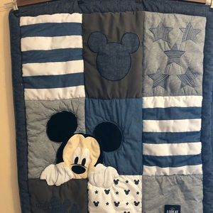 Walt Disney Baby Quilt Featuring Mickey Mouse